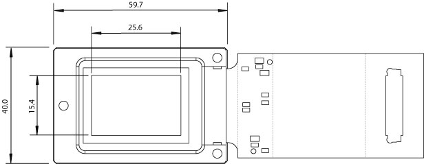 LC-R 720 Spatial Light Modulator Microdisplay Dimensions