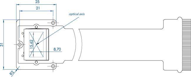 PLUTO-2 LCOS SLM Display Dimensions