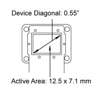 HED 5500 LCOS Microdisplay Dimensions